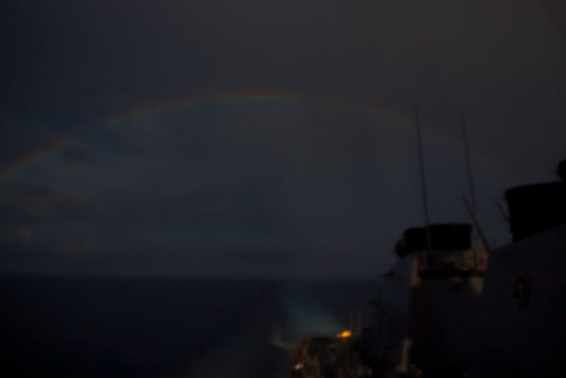 Rainbow at Night