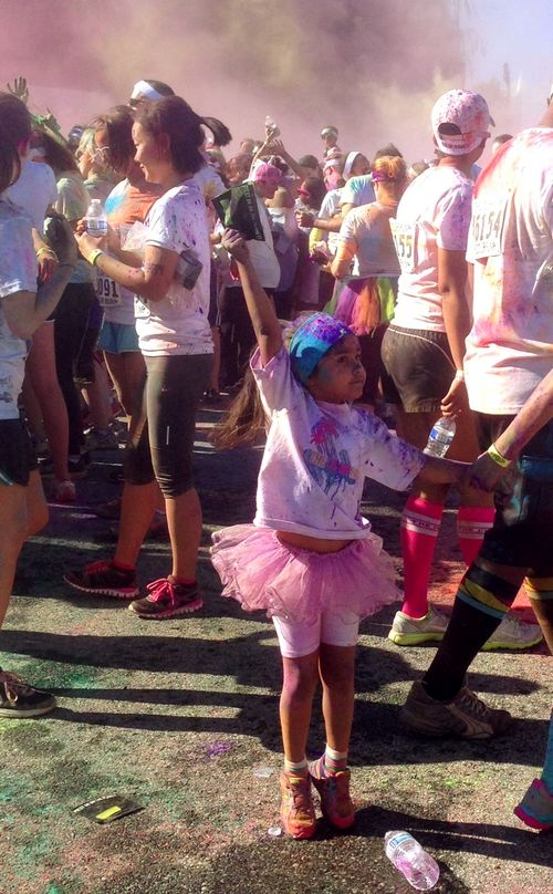 Color run girl