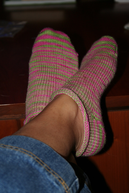 Knit Happens footies
