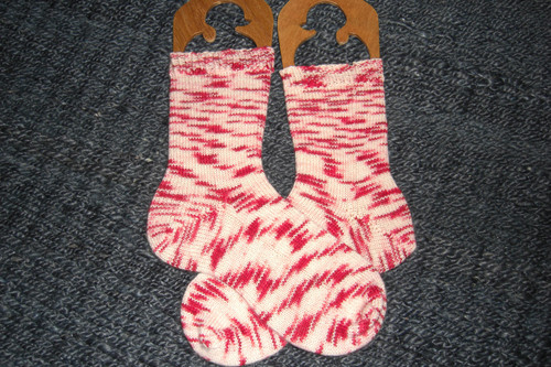 Peppermint Candy Cane Socks
